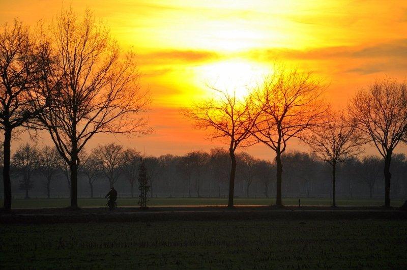 Vandaag krijgen we op duidelijk meer plaatsen de zon te zien, dus niet alleen in het zuiden. De foto werd gisteren gemaakt door Ben Saanen.