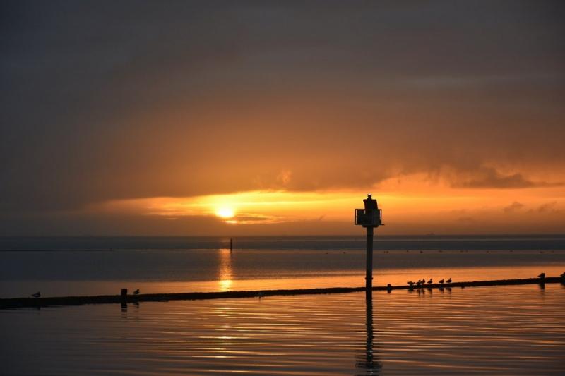 de dag begon op Terschelling nog met een streepje zon. De foto werd gemaakt door Sytse Schoustra.