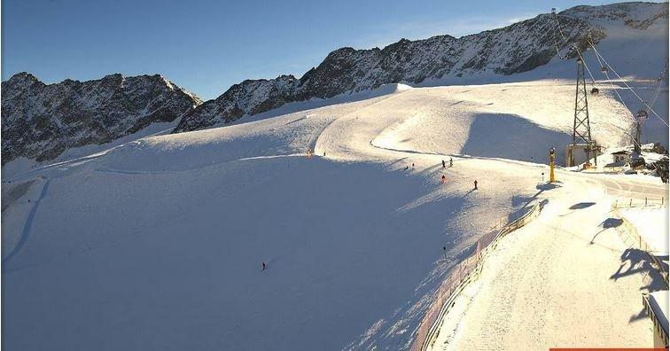 En ook in Sölden was het gisteren prachtig weer met veel ruimte voor de zon. Bron: Bergfex