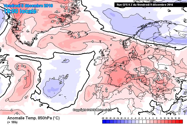 Vandaag wordt het in grote dele van de Alpen zo'n 4-8 graden te zacht voor de tijd van het jaar. Bron: http://www.meteociel.fr/