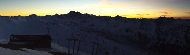 Prachtige zonsondergang in Ischl gisteren. Bron: webcam Ischl