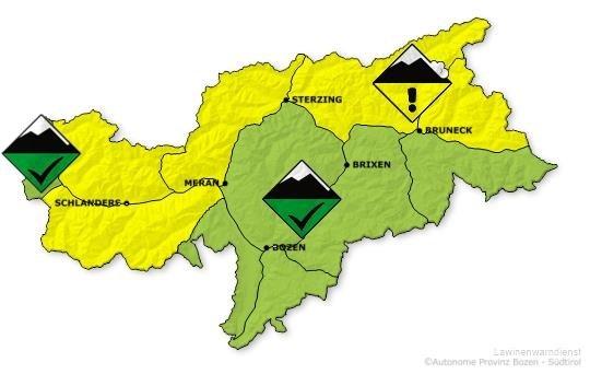 overzicht provincie Bozen bron: provinz.bz.it