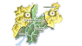overzicht provincie Trento bron: meteotrentino.it