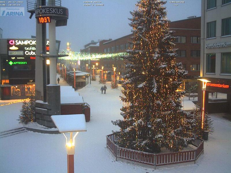 Het dorp van de Kerstman in Finland (Rovaniemi) al waar het prachtig wintert. Bron: http://www.santaclausvillage.info/