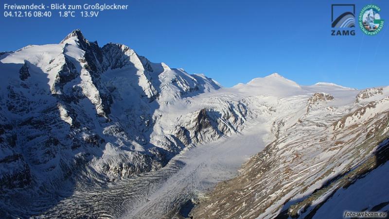Mooi panorama over de hoogste berg van Oostenrijk deze ochtend. Bron: bergfex.com
