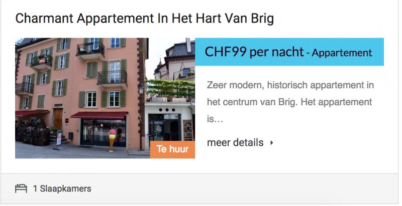 charmant appartement Brig
