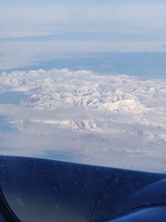 Spitsbergen vanuit de lucht