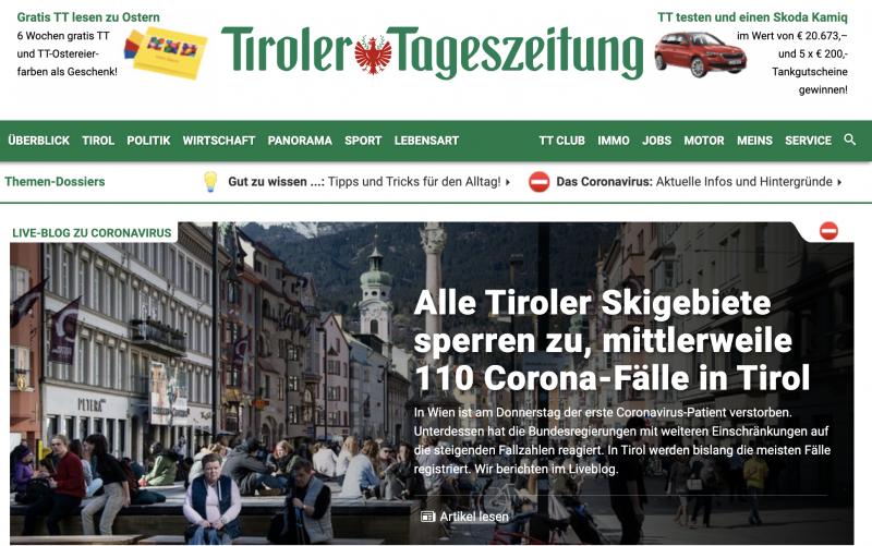 Tirol sluit skigebieden